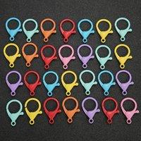 Lobster Claw Chiusure 24 * 35mm multicolore lega catenacci catenaccio Ganci per i monili che fanno i componenti accessori fai da te