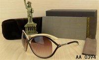 0394 Novo Round Sunglasses Homem Mulher Eyewear Tom Fashion Designer Square Sun Óculos UV400 Ford Lentes Tendência Sunglasses 0392 5178 com caixa