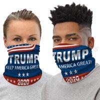 Trump 2020 Bandana Face Shield Mask Biden Seamless Magic Scarf Keep America Great Headbands Cycling Headwear Neck For Party Mask