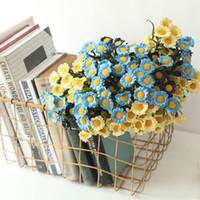 Flores artificiales Falso Seda Margarita Flor Ramo Flores Artificiales Para Decoracion Hogar Flores secas Decorativas para la boda YHM206-1