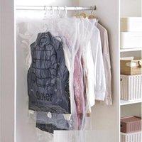 Saklama torbaları Kıyafet için ayırt edici asılı vakum katlanabilir sınır mühürlü sıkıştırma çantası gardırop organizatör çantası alanı tasarruf