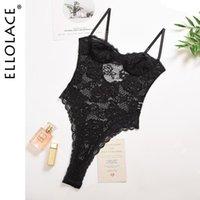 Ellolace кружева Bodysuit Женщины сексуальные Bodycon Body Counter Вышивка вышивка женские Rompers Без рукавов Сексуальный корпус Костюм Dropshipping
