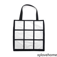 New Sublimation Grid handbag 40*40cm Tote Bag Blank White DI...