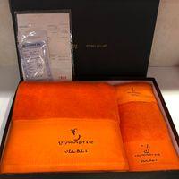 Set de serviette de broderie de luxe de haute qualité Brands Square Square Plage Serviette Adultes Serviette de bain 3 pièce 1 Ensemble de serviettes en coton Livraison gratuite