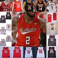 Texas Tech Basketball Jersey NCAA College Mac McClung Terrence Shannon Jr. Kyler Edwards Nimari Burnett Micah Petavy Chibuzo Agbo Smith