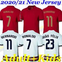 2020/21 رونالدو لكرة القدم الفانيلة جواو فيليكس نيفيس برناردو شامل روبن نيفيس نيفشن القومي لكرة القدم قميص 20 21 الرجال النساء الاطفال مجموعة موحدة
