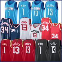 13 Harden John 1 Wall Basketball Jersey Hakeem 34 Olajuwon 2021 Новые майки