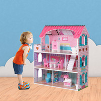 3 Layer Large Children' s Wooden Pretend Play House Kids...