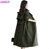 Длинные траншеи Весна Женщины Slim Верхняя одежда 2020 Новая Мода Свободные Повседневные Топы Плюс Размер Тонкие ветровавые Шуты IOQRCJV H161
