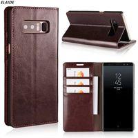 Для Samsung Galaxy Note 8 Case Luxury Real Натуральная кожа Flip Wallet Case для Samsung Note 8 Cover Note8 Case Shipe