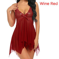 Lace Nightgown Frauen Nachtwäsche Pyjamas Sommer Negligee Babydoll Nachtwäsche Sexy Dessous Bademantel Weibliche Nachthemd Home Kleidung1