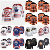 Edmonton Oilers 2021 Reverse Retro Jersey Draisaitl Leon Ennis Tyler Forsberg Anton Haas Gaetan Jones Caleb Kahun Dominik Costume Costume