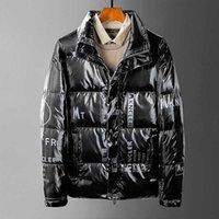 Новые зимние куртки для мужчин вниз джакке самые теплые пальто гусиной стойки воротник писем белая утка вниз свободные молнии спортивные пачки Parka высокое качество