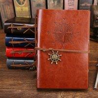 الرجعية خمر الجلود غطاء دفتر فارغة يوميات القراصنة تصميم ورقة ملاحظة كتاب استبدال المسافر المفكرة القرطاسية