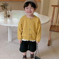 Euerdodo Детский свитер для девочек зимняя одежда кардиган мальчики вязаная осень мягкий хлопок детское свитер конфеты цвет