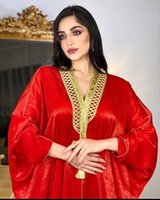 2021 Últimas surpreendentes dourados senhora festa vestido árabe dubai muçulmano peru morcego manga robet borlas abaya longa vestuário mulheres muçulmanas