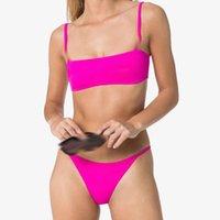 Moda Seksi Bayan Tek Parça Mayo Metal Zincir Baskılı Kadın Bikini Setleri Push Up Bayanlar Plaj Yüzme Mayolar