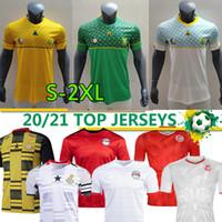Egitto M.salah # 10 South Soccer Africa Ghana Tunisia Jersey 2020 2021 New National Team Home Away Third Men Kit Camicie da calcio Thai Qualità