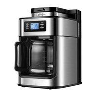 Máquina Máquina de Cafeteira 1000W Home Automático LED-Display Bean Grinder Fresco Moagem Americana Espresso Café Leite