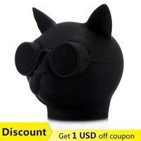 Altavoces portátiles Cat Head Style T8 Bluetooth Altavoz Mini columna Subwoofer Music Center Manos libres Caxia de Som Boom Box Sound Syste