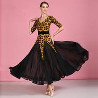 Sahne Giyim Kadın Balo Salonu Dans Takım Elbise Kadın Waltz Elbise Standart Top Kostümleri Tango Rumba Üniformaları Kadife Tam Etekli 1878