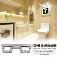 6W 더블 램프 크리스탈 표면 욕실 침실 램프 흰색 빛 실버 노드 아트 장식 조명 현대 방수 거울 벽