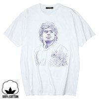 에베이 에이고 디에고 Maradona 아르헨티나 컬트 축구 전설 순수 코튼 티셔츠 멋진 캐주얼 프라이드 티셔츠 남성 유니섹스 티셔츠