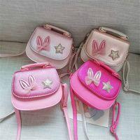 Fille monnaie sac à main sacs à main enfants portefeuille petite pièce boîte sac mignon lapin oreille arc kid sac argent sac bandoulière change sac à main