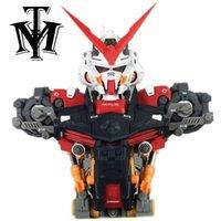 Modelo de anime Modelo de cabeza ensamblada 1/35 Frame de extraviones rojo Gundam MBF-P02 Robot Brinquedos Puzzle Figuras de acción Hot Kids Toy Regalo Y200421
