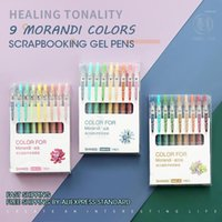 AndStal 9Colors / Set 36 Colores Morandi RetrStable Gel Pen Set 0.5mm Color Gel Tinta Pens Gelpen School Office Supplies Sitioy1
