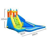 Wet OrDry Inflatable Slide Garden Supplie Bounce House Jumper Slides Park Combo For Kids Outdoor Party Water Parks With Spray Summer Play