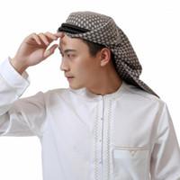 Abbigliamento etnico Abbigliamento per uomo musulmano Turbante da uomo, Arab Black Color India Capelli Cappelli Islamici Uomo Vendita all'ingrosso / Drop HS1811