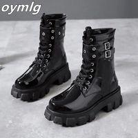 Женщины Готические ботильоны для готики Zip Punk Style Platform Обувь гот зимние начало вереток коренастые каблуки сексуальная цепочка 2020 Dropshipping # YM93