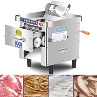 coupe en acier inoxydable commercial viande Machine trancheuse électrique bureau démontage rapide déchiqueter découpage en dés Coupe-légumes 850W