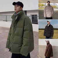PR Winter Men Casual Solid Color Parka 2020 New Men Warm Streetwear Korean Coat Fashion Thicken Zipper Classic Parkas