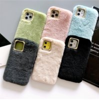 نقية اللون أفخم حالة الهاتف ل iphone12 ميني برو ماكس tpu القطيفة جلدية الهاتف حالة آيفون 11