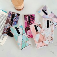 Plating Marble Case For Xiaomi Redmi Note 9s 9 8 7 Pro 8A Case Splice Marble Patterned Soft IMD Silicone Phone Back Cover Cases