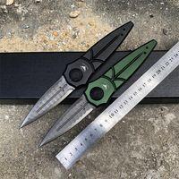Großhandel neue Art von Non-Lock-Klappmesser für Piranha d2 Blade Aviation Aluminiumlegierung Griff Interessante Box Blade Camping Schneidwerkzeuge