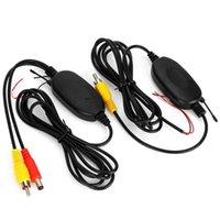 Cámaras de visión trasera Cámaras Sensores de estacionamiento 2.4GHz Kit de receptor de transmisor de video RCA inalámbrico de 200 mW para DVD Monitor CCD Cámara de respaldo inversa CCD
