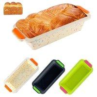 نخب خبز مستطيلة سيليكون قوالب كعكة المقالي الخبز نخب قوالب المطبخ أدوات الخبز كعكة قوالب المنزل مطبخ خبز خبز dhb3615