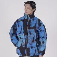 Parka Jacket Men Hip Hop Streetwear Девушка Printed куртка ветровка хлопок зима теплой проложенный пальто куртки и пиджаки Толстый
