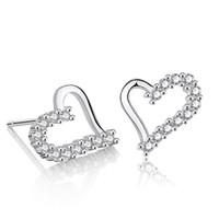 Korean style earrings studs for girlfriend 925 silver sterling earring hypoallergenic creative fashion jewelry zircon love earrings