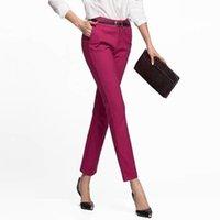 WMWMNU Kadın Pantolon İş Giyim Rahat Bahar Siyah Kalem Pantolon Artı Boyutu Kadın Ince Pantolon Elastik Pantalones Mujer LJ201103