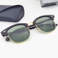 Mestre-classe clássica homens mulheres óculos de sol lente UV400 acetate frame.suitable para guarda-sol, condução e pesca na praia. Caixa de embalagem de caso de couro