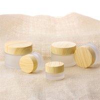 Glaçage verre cire pavillon grain bois couvercle cire cire conteneur visage crème séparée bouteille de toilette cosmétique pots cosmétiques 2 7YC e2