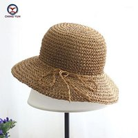 Chapeaux larges chapeaux Ching Yun Summer Womenchildhat 2021 chapeaux de soleil chapeau Lafite paillasse plage balnéaire à la main balnéaire vacances voyage vacances