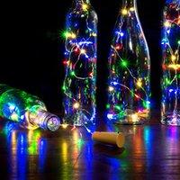 2m 20 LED Mini Fles Stopper Lamp String Bar Decoratie String Licht Kleurrijke Lichte Aarde Kleur Volledige Hoge Helderheid LED-snaren