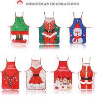 عيد ميلاد سعيد المريلة مطبخ مضحك دير ثلج الطباعة عيد الميلاد المريلة جيب كبير مطبخ الخبز مطعم مريلة المئزر 7 أنماط