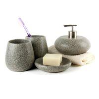 Комплект аксессуаров для ванны Nordic Ванная комната Аксессуары для ванной комнаты Смолы Снабжения Комплекты Мраморный Touch 4 шт. Бизнес-подарок El Decor Decotalk