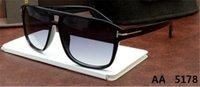Nova rodada óculos de sol homem mulher Eyewear Tom designer de moda quadrado sol óculos uv400 ford lentes tendência óculos de sol 5178 0394 0392 tomm